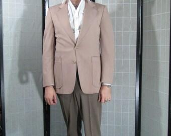 Khaki Norfolk Style Sport Coat, Tan Jacket