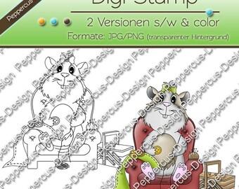 Digi sewing stamp set - Guinea pig / E0021