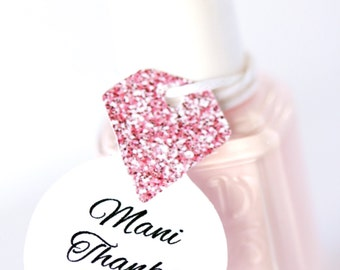 Nail Polish Favor Tags Bachelorette Party Thank You Favors Shower