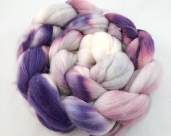 Merino Roving, Purple Merino Roving, Spinning Fiber, Wool Roving, Merino Wool Roving, Merino Wool, 100% Merino