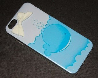 iPhone 6 Blue Whale Bow Case