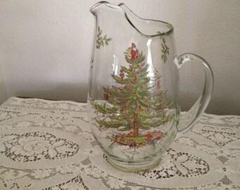 Spode Christmas Tree 2 1/2 Quart Pitcher