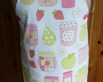 Full length apron - jam jars & fruits