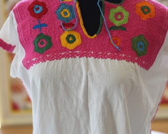 Mexican Top, embroidered mexican top Oaxaca Mexican Top