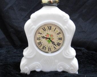 Vintage Mantel Clock Decanter