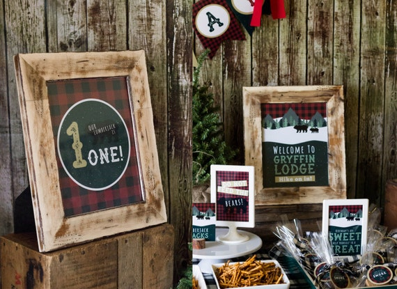 Lumberjack Welcome Signs Rustic Birthday Decor Woodland
