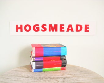 Hogsmeade Harry Potter Handpainted Wood Sign Wall Art 4x24