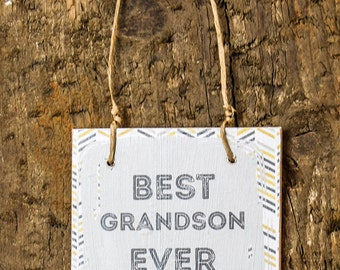 Mini Wooden Grandson Sign - Perfect Alternative to a Birthday Card