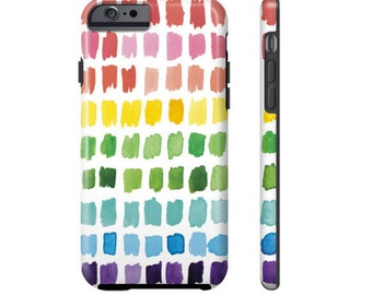 Rainbow Phone Case - colorful watercolor brushstroke phone case for iPhone 4, iPhone 5, iPhone 6, iPhone 6S, Galaxy S6, Galaxy S5