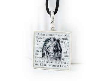 Aslan Narnia Necklace – Narnia Book Jewelry – Narnia Lion Necklace – The Chronicles of Narnia Jewelry – Book Lover Jewelry
