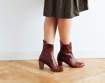 Winter Sale 30% Off //  Leather Boots, Ankle Boots, Women's Boots, Handmade Boots, Boots, Brown Boots, Heeled Boots // Free Shipping