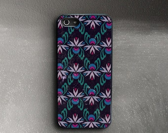 iPhone 5 Case Floral Pattern, Art Deco iPhone Case 5, Rubber iPhone SE Case Flowers, iPhone 5c Case Floral, iPhone SE Cover