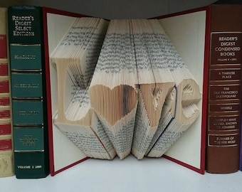 Book Folding Pattern - Love with Heart
