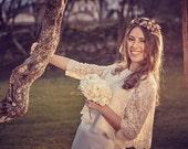 Golden leaves tiara - Golden bridal tiara - Golden tiara - Bridal fascinator