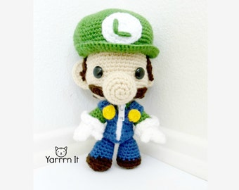 Luigi Sackboy Amigurumi (crocheted stuffed doll)