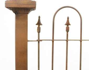 """3""""sq Wrought Iron Chilo Fence Post for Fencing and Gates Support"""