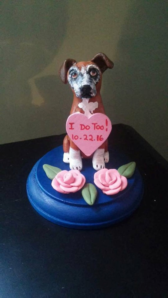 wedding cake topper with boxer dog items similar to boxer wedding cake topper senior 26654
