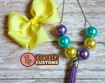 Ball Chain Chunky with Matching Hairbow