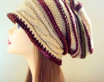 Baggy Hat Knit Dreadlock Rasta Hat Beanie Super Slouchy Hat Women Fashion Accessories Gift For Her  Gift Ideas