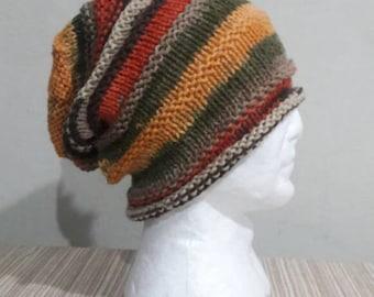 Mens Slouchy Beanie  Chunky Hat  Dreadlock Hat  Slouchy Hat Handmade Gift Ideas