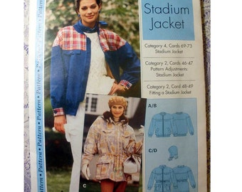 Women's Stadium Jacket Sewing Pattern Size 4, 6, 8, 10, 12, 14, 16, 18, 20, 22 Uncut Sewing Step-by-Step IMP BV/IMP Inc.