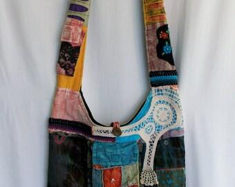 Hippie purse, cross body bag, messenger bag, boho purse, hippie bag, boho bag, sling bag, hobo bag, hippie gypsy, festival accessories,