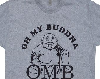 Oh My Buddha T Shirt OMB T Shirt OMG T Shirt Vintage Buddha T Shirt Dali Lama T Shirt Buddha ...