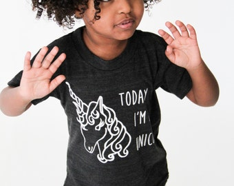 Baby girl clothes, baby girl shirt, birthday shirt, baby girl, toddler shirt, baby gift, birthday outfit, girls shirt, today I'm a unicorn
