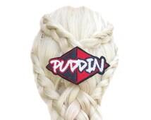 Super Hero Hair Bow - Harley Quinn Puddin - Comic Book - Harley Quinn Cospaly - Suicide Squad - Harley Quinn Costume - Pop Culture