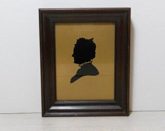 Vintage Silhouette - Framed Under Glass