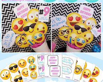 Emoji Birthday Printable Centerpiece | Emoji Birthday | Emoji Centerpiece | Emoji Decorations | Party Decoration | Epic Parties by REVO