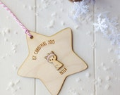Personalised Kitten's First Christmas Tree Decoration