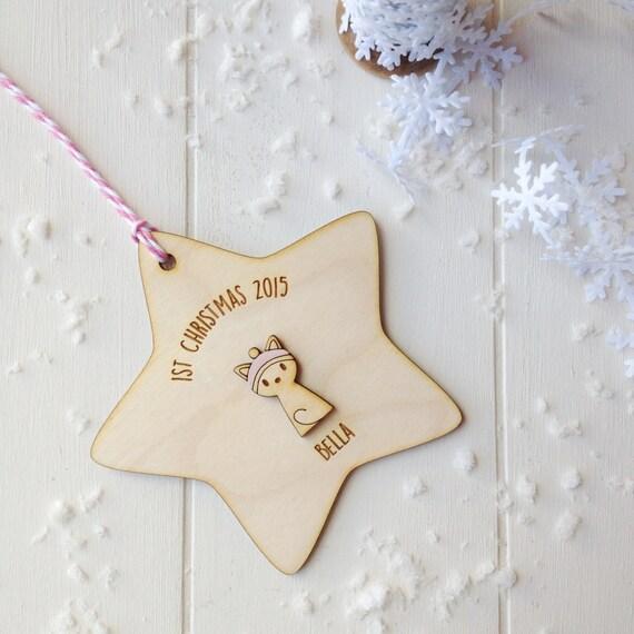 Kitten's First Christmas Tree Decoration - kitten gift - cat lover gift