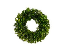 """Christmas Preserved Boxwood Wreath Home Decor Holidays or Centerpiece Candle Ring 17"""""""