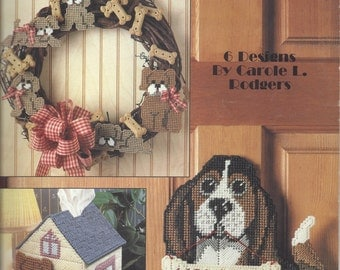 Puppy Time In Plastic Canvas Leaflet #1371