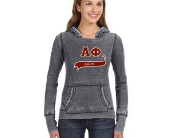 Sorority Smoky Burnout Pullover Hooded Sweatshirt