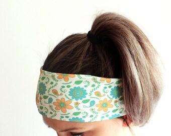 Yoga Headband - Fitness Headband - Workout Headband - Running Headband - Boho Headband - Elastic Headband - Flowers Floral Headband Y34