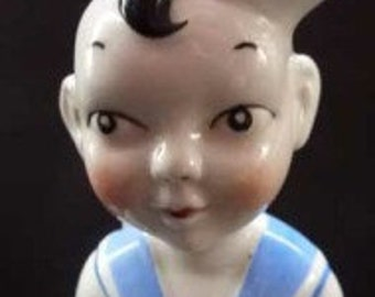 Quirky Little 1960s Ceramic Table Lamp in the Form of a Little Sailor Boy