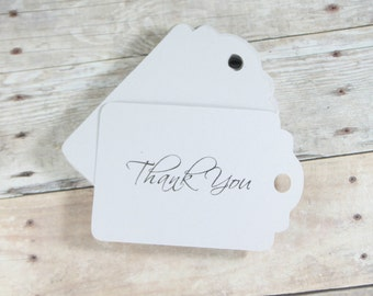 Light Grey Thank You Tags Set of 20 - Merchandise Tags - Price Tags - Favor Gift Tags - Grey Thank You Favors - Light Grey Wedding Tags