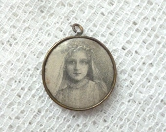 Therese of Lisieux - Antique French Round Medal