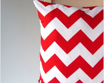 Decorative Pillow Cover Pillow cushion cover pillow case cushion case chevron zig-zag red-white 16x16/  20x20 inch