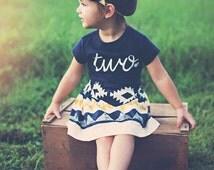 Girls Birthday outfit, 2nd birthday shirt, ANY AGE, girls Birthday shirt and skirt