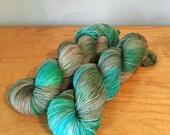 Hand-Dyed Sparkle Sock Yarn Merino Wool Nylon Variegated 4 Ply Fingering Weight Yarn