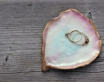 Pearl Sea Shell Jewelry Dish