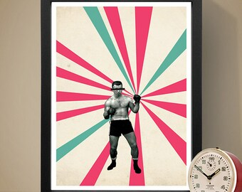 Abstract Art Poster - The Boxer, Home Decor, Wall Art, Abstract Poster