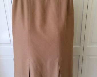 Free shop PENDLETON  Pencil skirt with kick pleats fully lined camel hair color size 6Petite vintage womens 70s