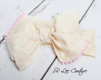 Nursery Rhyme Headwrap - Bow Headwrap - Head Wrap - Baby Headwrap - Hair Bow