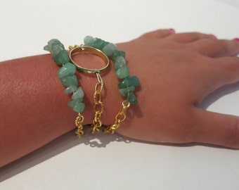 RESERVED SET: 2 Trio Sets, One Green Aventurine, One Turquoise