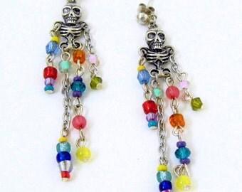 Skeleton Earrings~Halloween~Gothic Jewellery