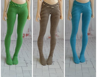 Striped tights for doll 1/4 slim msd minifee